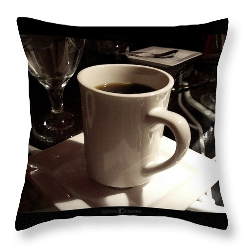 White Throw Pillow featuring the photograph White Cup by Tim Nyberg
