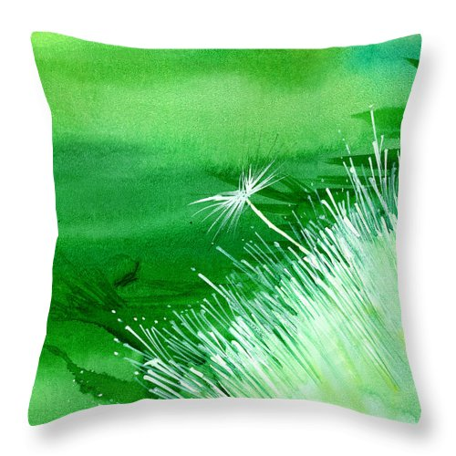Flowers Throw Pillow featuring the painting White Flower by Anil Nene