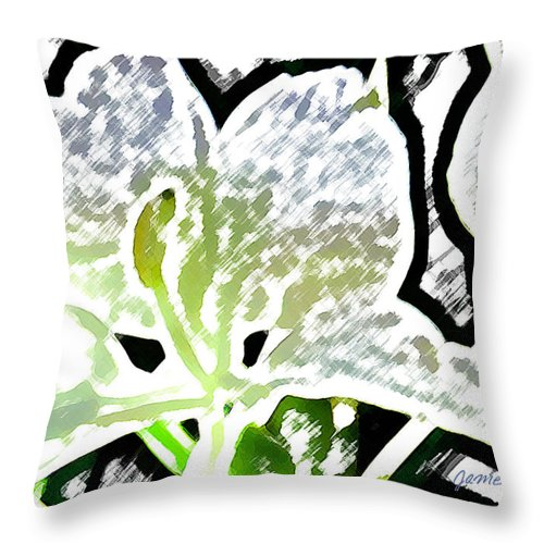 Ginger Throw Pillow featuring the digital art White Ginger by James Temple