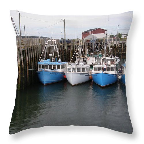 Flotilla Throw Pillow featuring the photograph White Head Flotilla by Frederic Durville