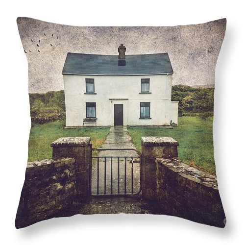Aran Islands Throw Pillow featuring the photograph White House Of Aran Island I by Craig J Satterlee