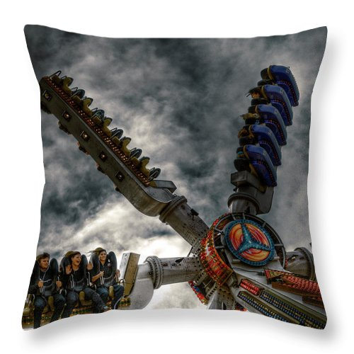 People Throw Pillow featuring the photograph White Knuckle Test by Wayne Sherriff