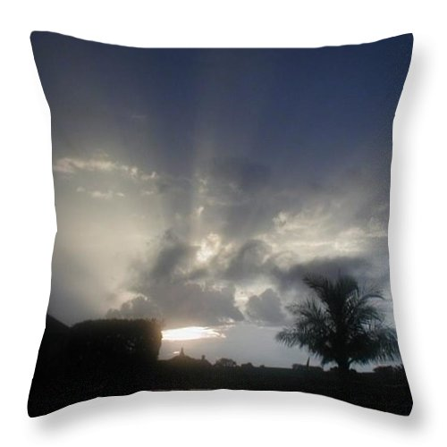 Sunset Throw Pillow featuring the photograph White Light by Marian Palucci-Lonzetta