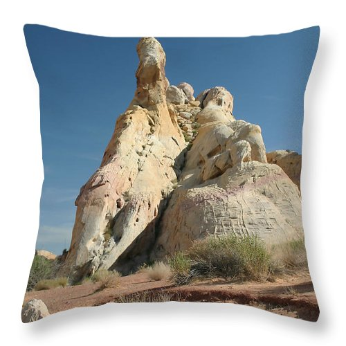 Desert Throw Pillow featuring the photograph White Mounds by Mary Haber