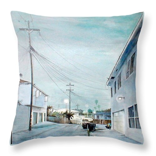 Cityscapes Throw Pillow featuring the painting White Nights by Duke Windsor