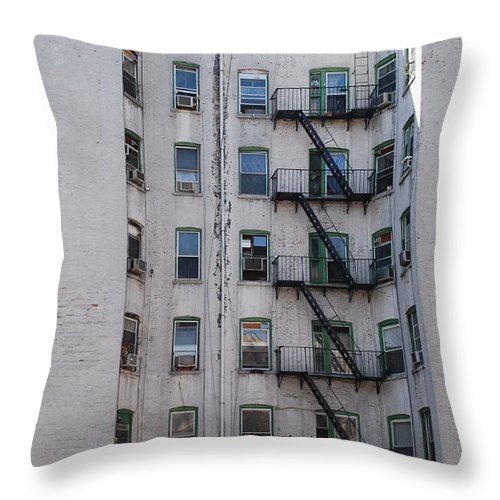 Street Scene Throw Pillow featuring the photograph White by Rob Hans