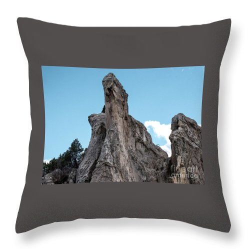 Colorado Springs Throw Pillow featuring the photograph White Rock, Garden Of The Gods by Jennifer Mitchell