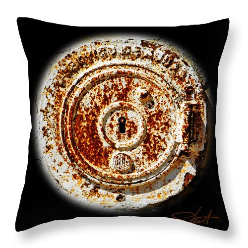 Manhole Throw Pillow featuring the photograph White Water by Charles Stuart