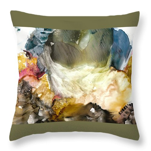 Whitewater Throw Pillow featuring the painting Whitewater Rapids by Susan Kubes
