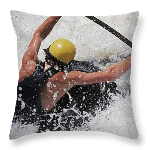 Excitment Throw Pillow featuring the photograph Whitewater Stretch by Harold Stinnette