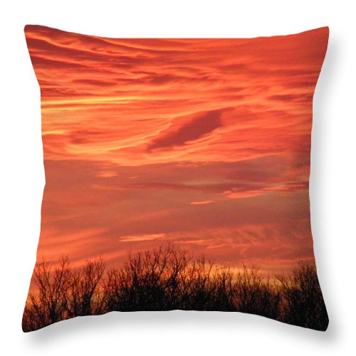 Sunset Throw Pillow featuring the photograph Who Needs Jupiter by Gale Cochran-Smith