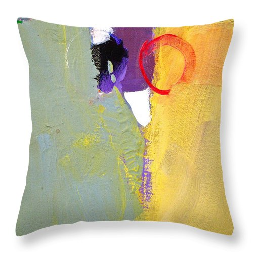Abstract Painting Throw Pillow featuring the painting Whole Stein by Cliff Spohn