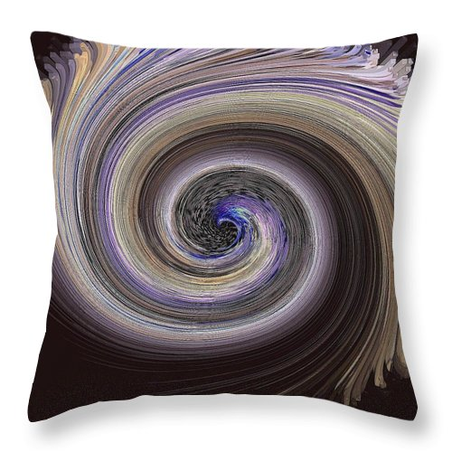 Spiral Throw Pillow featuring the photograph Whorl 2 by Elizabeth Tillar