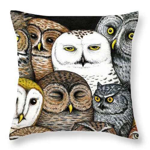 Art Throw Pillow featuring the painting Who's Hoo by Don McMahon