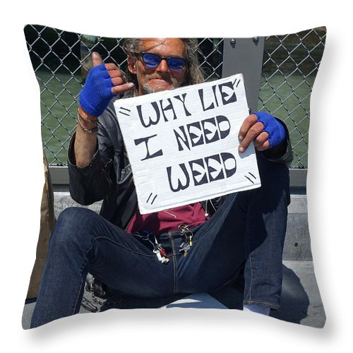 San Francisco Throw Pillow featuring the photograph Why Lie by Julia Wilcox