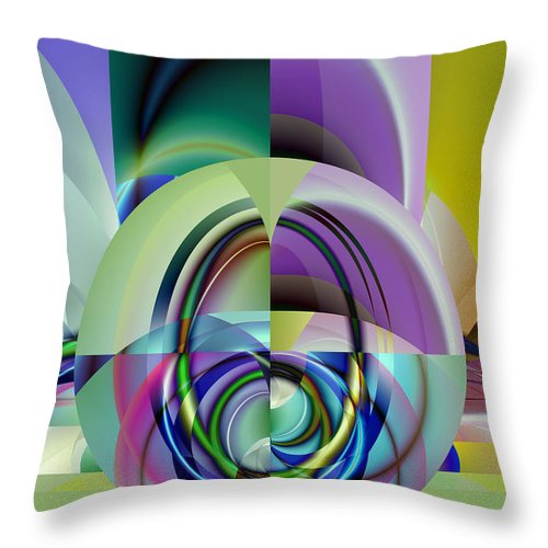 Abstract Throw Pillow featuring the digital art Wide Eye by Frederic Durville