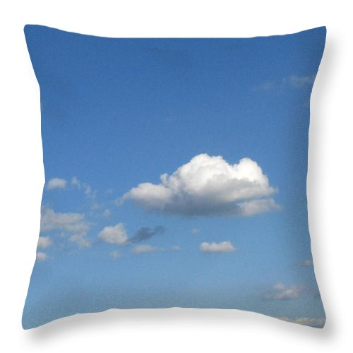 Clouds Throw Pillow featuring the photograph Wide Open by Rhonda Barrett