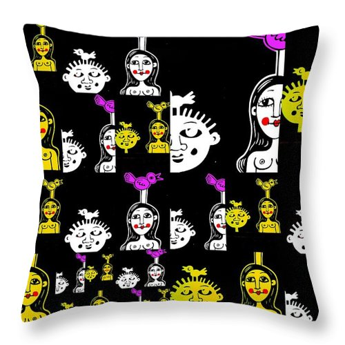 Couples Throw Pillow featuring the photograph Wierd Couples by Funkpix Photo Hunter