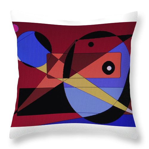 Abstract Bird Throw Pillow featuring the digital art Wild Bird by Ian MacDonald