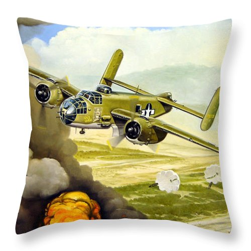 Aviation Throw Pillow featuring the painting Wild Cargo by Marc Stewart