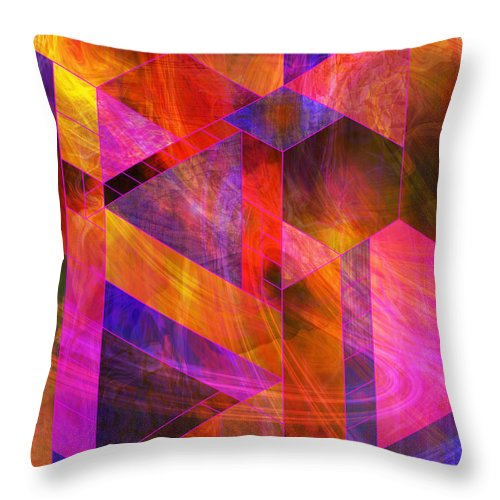 Wild Fire Throw Pillow featuring the digital art Wild Fire by John Robert Beck