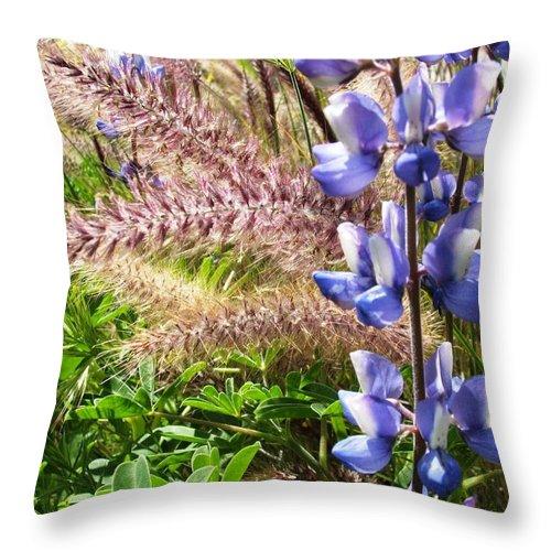 Flower Throw Pillow featuring the photograph Wild Flower by Shari Chavira