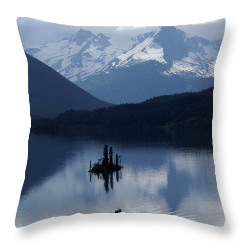 Wild Goose Island Throw Pillow featuring the photograph Wild Goose Island by Marty Koch