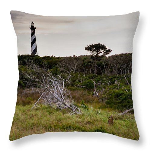 Richard Throw Pillow featuring the photograph Wild Hatteras by Richard Bandy