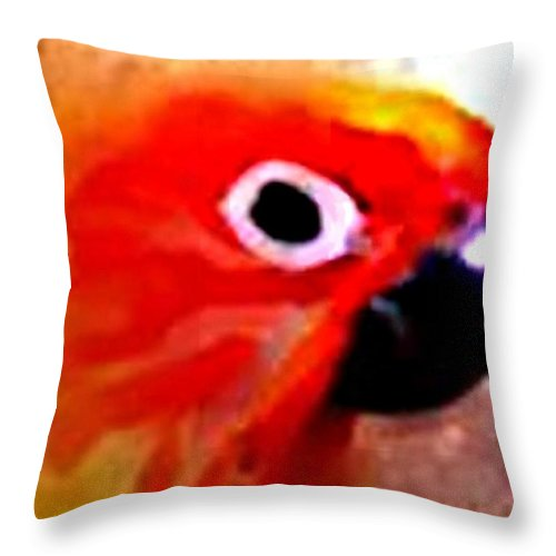 Parrot Throw Pillow featuring the digital art Wild Parrot by Crystal Webb