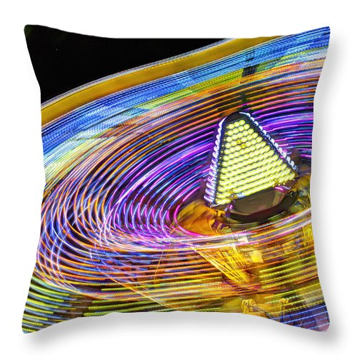 Amusement Throw Pillow featuring the photograph Wild Ride by John Swartz