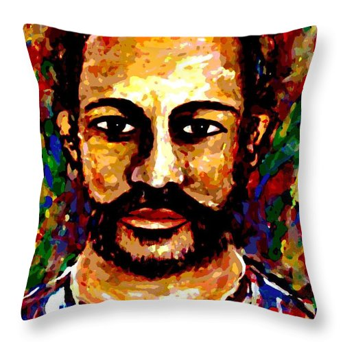 Expressionism Throw Pillow featuring the digital art Wild Spirit by Natalie Holland