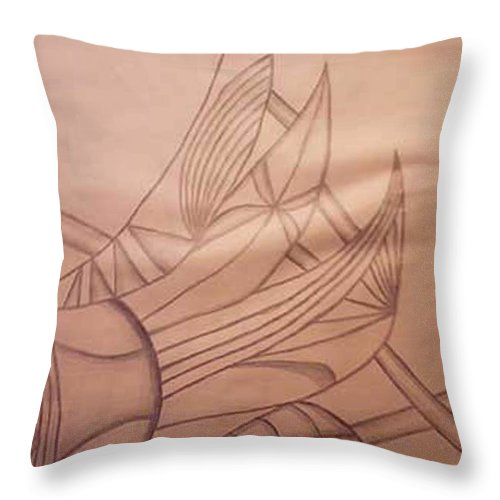 Abstract Throw Pillow featuring the drawing Wild Vines by Natalee Parochka