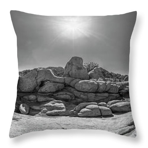 Joshua Tree Throw Pillow featuring the photograph Wild West Rocks by Scott Campbell
