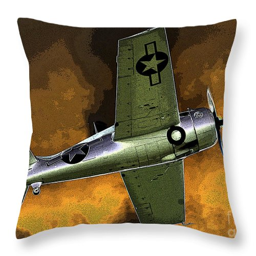 Wildcat Throw Pillow featuring the painting Wildcat by David Lee Thompson
