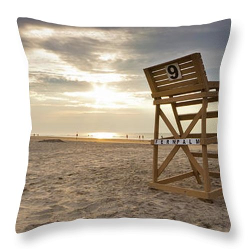 Sunrise Throw Pillow featuring the photograph Wildwood Crest New Jersey Sunrise by Dustin K Ryan