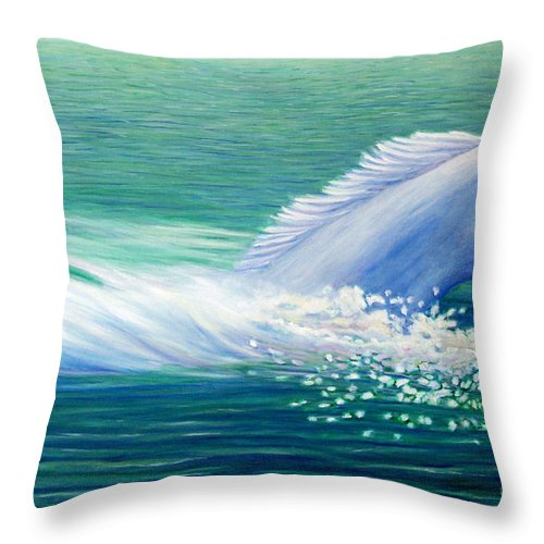 Horse Throw Pillow featuring the painting Will Power by Brian Commerford