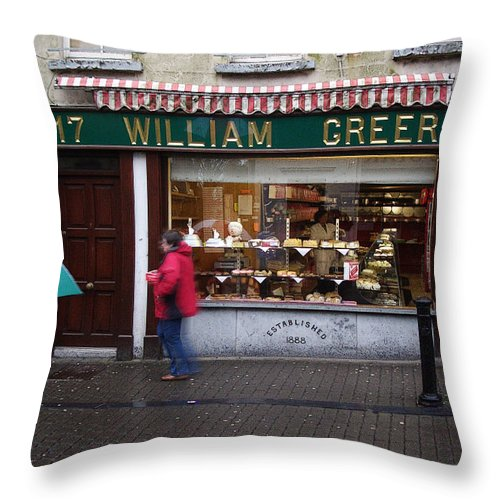 Ireland Throw Pillow featuring the photograph William Greer by Tim Nyberg