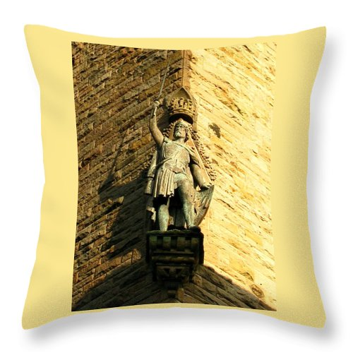William Wallace Throw Pillow featuring the photograph William Wallace by Maria Joy