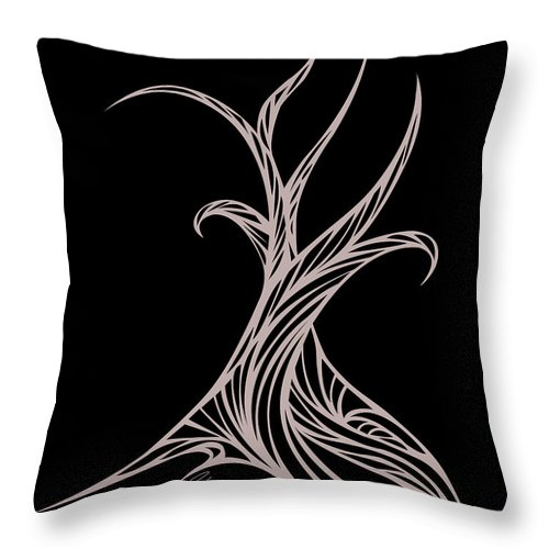 Throw Pillow featuring the digital art Willow Curve by Jamie Lynn