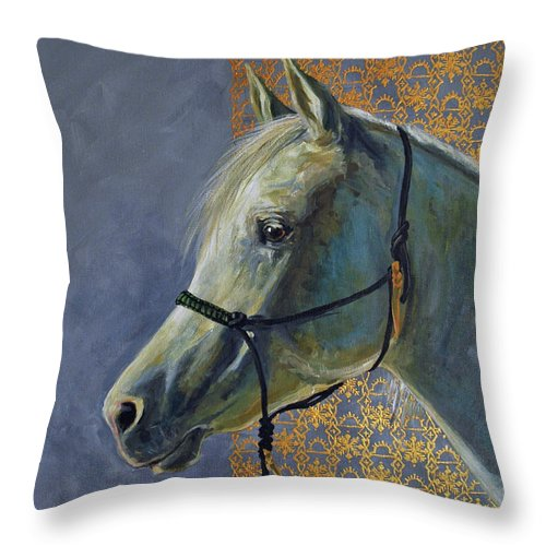 Acrylic Throw Pillow featuring the painting Willow In Winter by Suzanne McKee