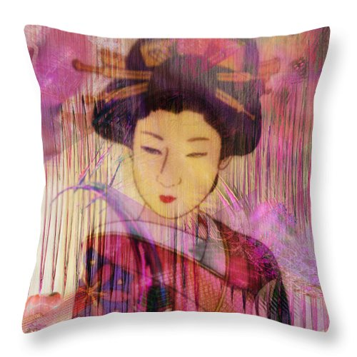 Willow World Throw Pillow featuring the digital art Willow World by John Robert Beck