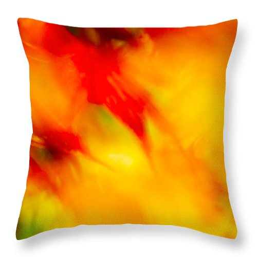 Trees Throw Pillow featuring the photograph Wind In The Peaches by Gary Bartoloni