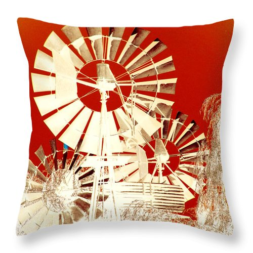 Landscapes Throw Pillow featuring the photograph Wind In The Willows by Holly Kempe