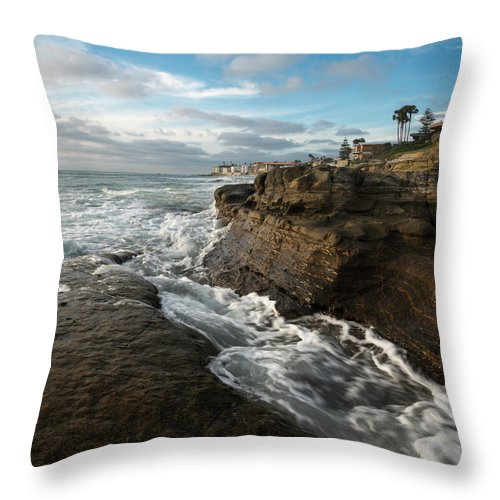 Windansea Beach Afternoon Throw Pillow For Sale By William