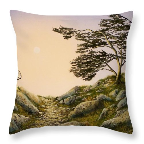 Windblown Warriors Throw Pillow featuring the painting Windblown Warriors by Frank Wilson