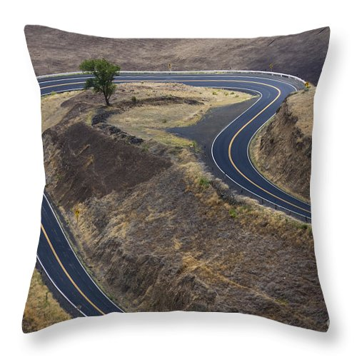 Road Throw Pillow featuring the photograph Winding Road by Idaho Scenic Images Linda Lantzy