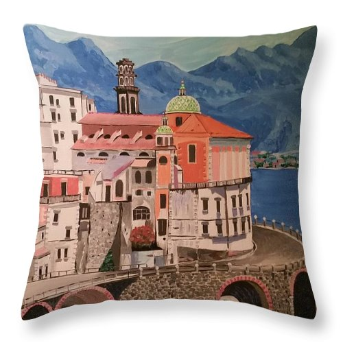 Winding Roads Of Italy Throw Pillow featuring the photograph Winding Roads Of Italy by John Catalfamo