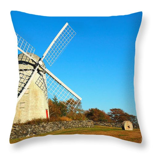 Windmill Throw Pillow featuring the photograph Windmill by Edward Sobuta