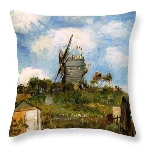 Farm Throw Pillow featuring the photograph Windmill In Farm by Sumit Mehndiratta