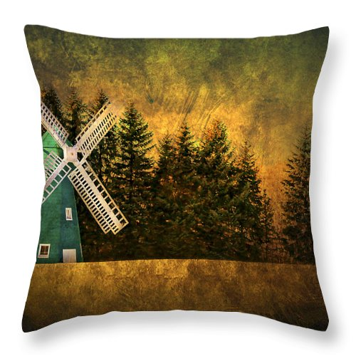 Brimfield Throw Pillow featuring the photograph Windmill On My Mind by Evelina Kremsdorf